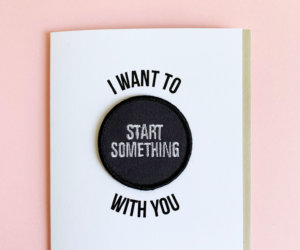 start something greeting card and patch